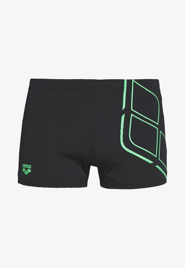 ESSENTIALS SHORT - Caleçon de bain - black/golf green