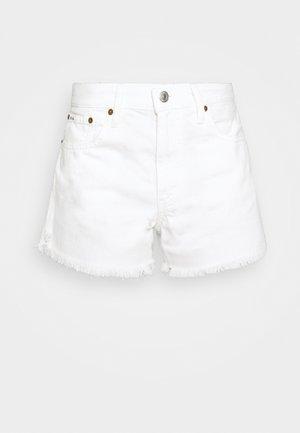 FURMAN WASH - Shorts di jeans - white