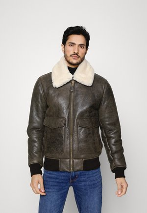 PILOT - Leather jacket - brown