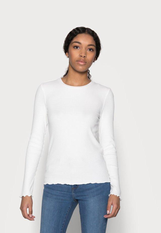 SLFANNA CREW NECK TEE - Maglietta a manica lunga - snow white