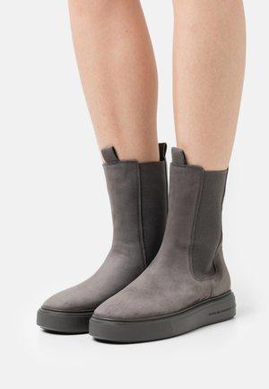 PRO - Platform ankle boots - carbon
