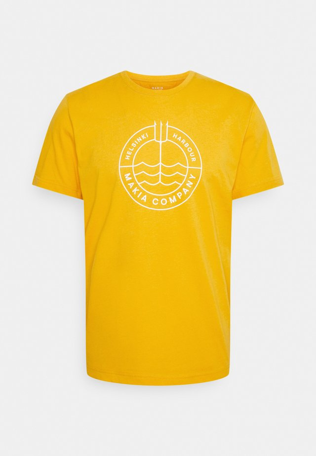 TRIDENT - T-shirts med print - golden yellow
