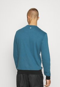 11 DEGREES - CUT AND SEW - Mikina - black /indian teal/white - 2