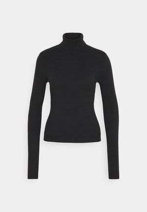 VMHAPPY BASIC ROLLNECK BLOU - Strikkegenser - black