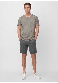 Marc O'Polo - SHORT SLEEVE RAW - Jednoduché triko - griffin - 1