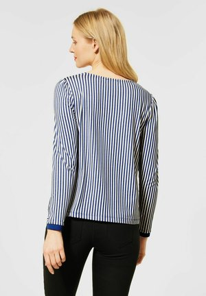 MIT MUSTER - Long sleeved top - blau