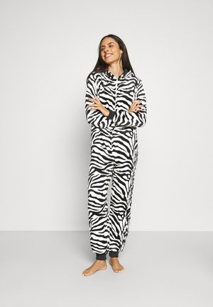ZEBRA PRINT ALL IN ONE WITH EARS - Pyjamas - black/white