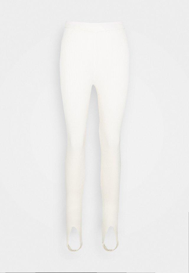 OPEN HEEL - Leggings - beige
