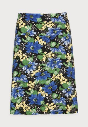BORDER SKIRT PACIFICA - A-line skirt - river blue