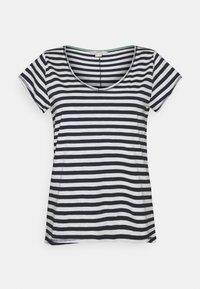 Esprit - SLUB - Print T-shirt - navy - 0