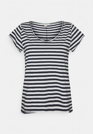 SLUB - Print T-shirt - navy