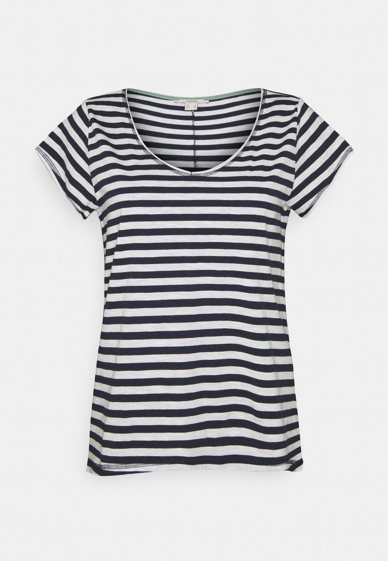 Esprit - SLUB - Print T-shirt - navy