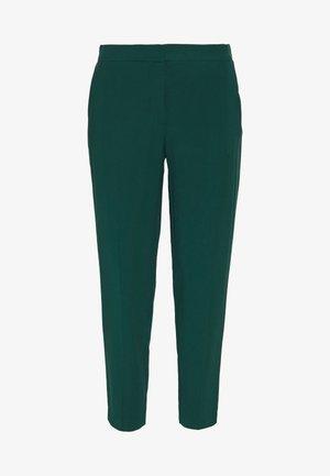 BASIC SLIM TROUSERS WITH WAIST - Spodnie materiałowe - green