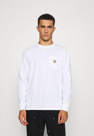 POCKET - Långärmad tröja - white