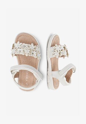 PINK 3D FLOWER SANDALS (YOUNGER) - Chodecké sandály - white