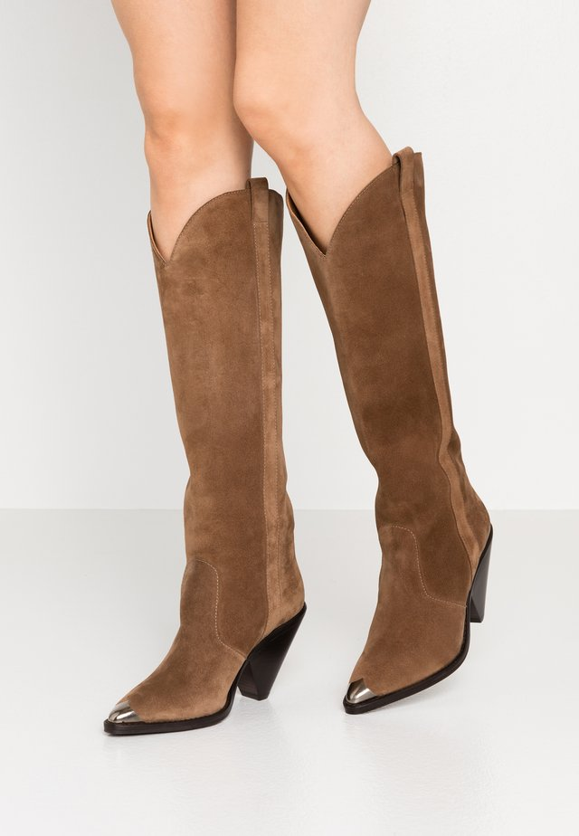 High heeled boots - basket oscuro