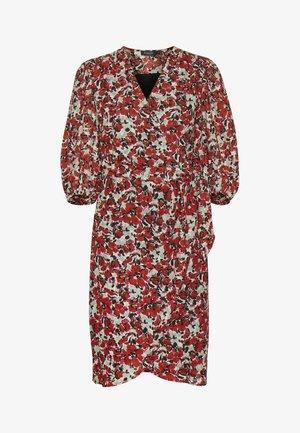MELROSE WRAP DRESS - Korte jurk - multifloral cardinal
