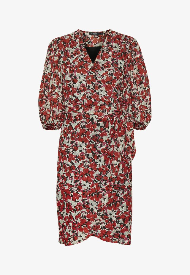 MELROSE WRAP DRESS - Sukienka letnia - multifloral cardinal