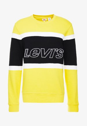 PIECED CREW - Sweatshirt - yellow