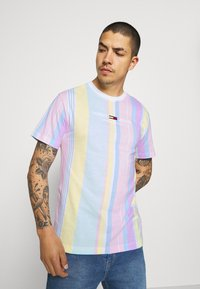 Tommy Jeans - STRIPE TEE - Printtipaita - romantic pink - 0