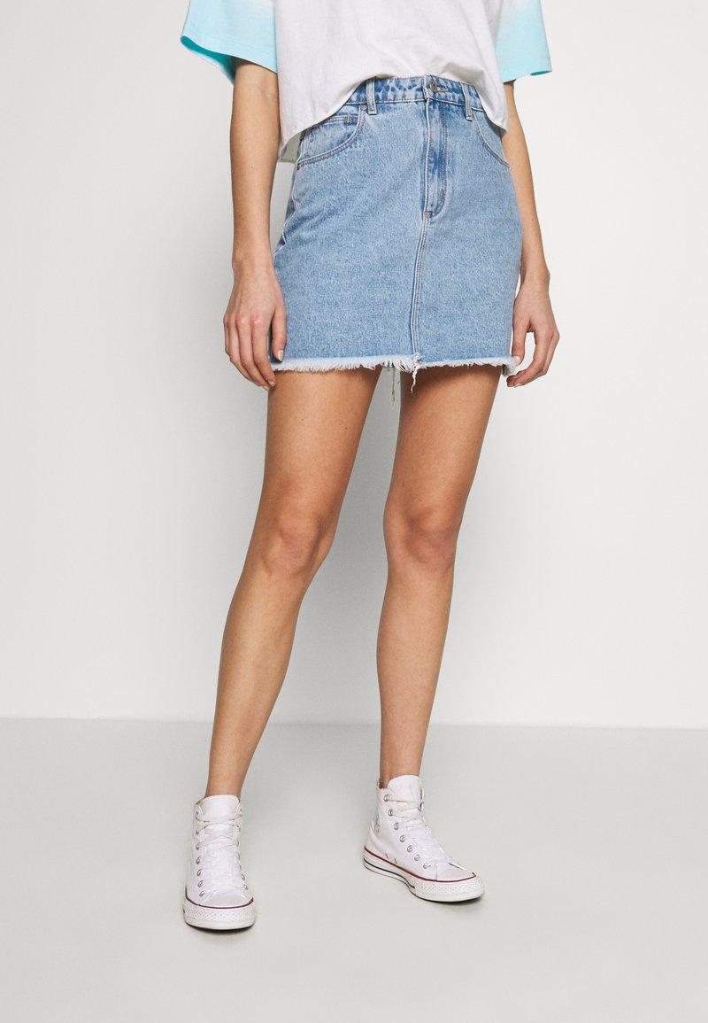 Abrand Jeans - SKIRT - Denim skirt - esmeralda