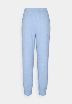 FUZZY JOGGERS - Pyjama bottoms - blue