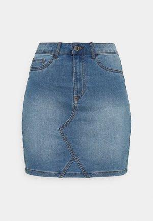 VIINES ANA SHORT SKIRT - Denim skirt - light blue denim