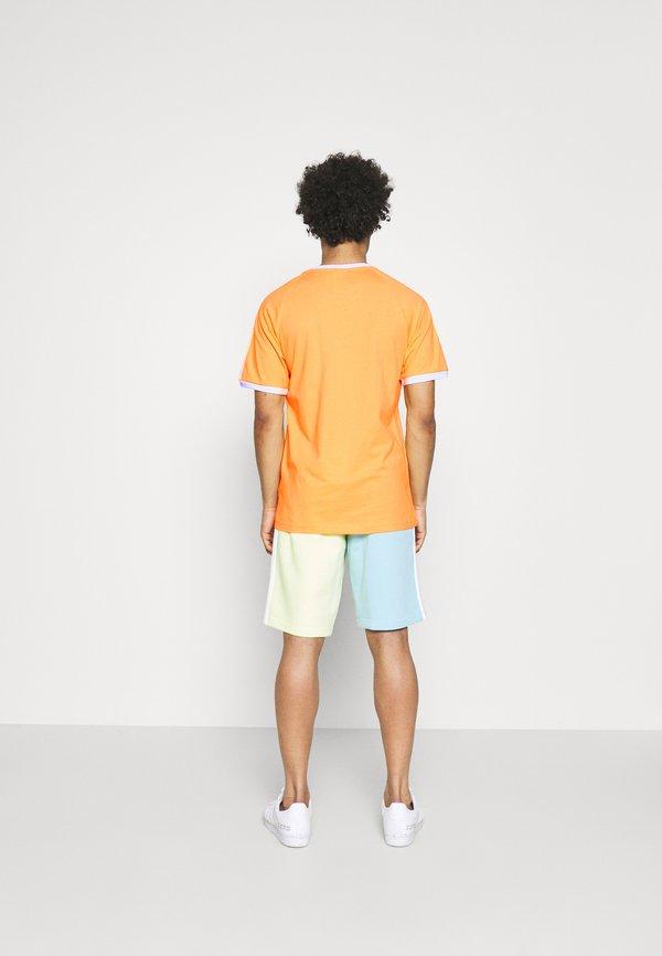 adidas Originals STRIPES TEE - T-shirt z nadrukiem - hazy orange/pomarańczowy Odzież Męska TJVW