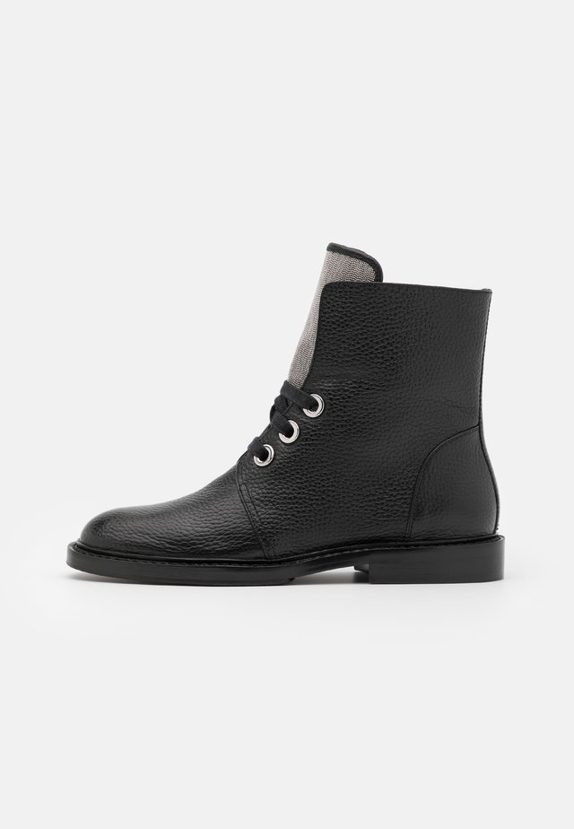 CHAIN AVE - Lace-up ankle boots - black