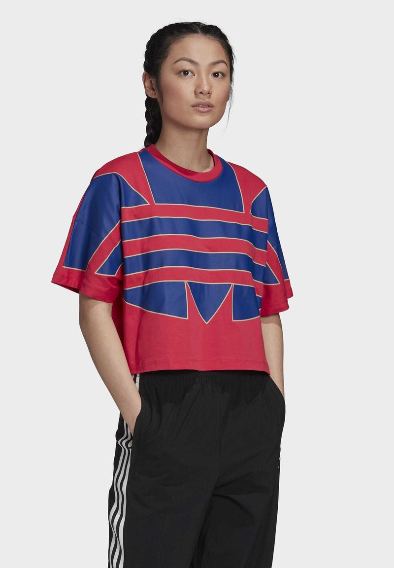 adidas Originals - ADICOLOR LARGE LOGO T-SHIRT - T-shirts print - pink