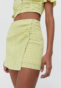 PULL&BEAR - A-line skirt - light green - 4