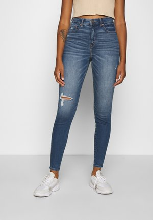 CURVY HI-RISE PREMIUM - Jeansy Slim Fit - starry night destroy