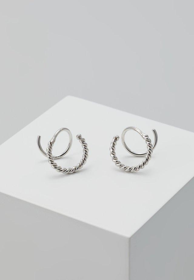SOFIA TWIRL DOUBLE PACK - Boucles d'oreilles - silver