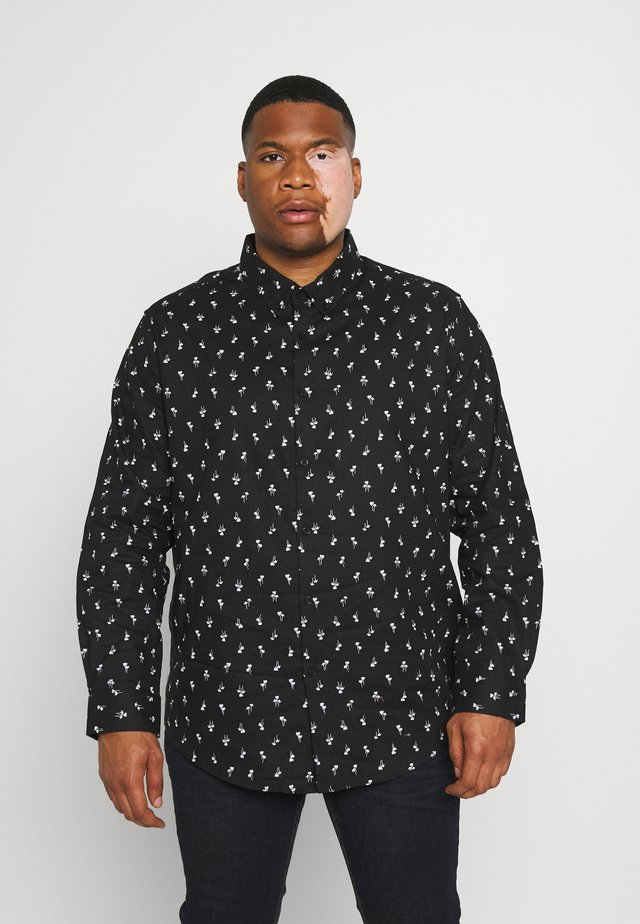 PANAMA PALM PRINT SHIRT - Overhemd - black