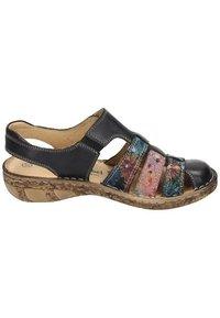 Comfortabel - Wedge sandals - schwarz/bunt - 5