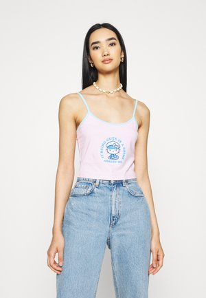 HELLO CUTE IS A CRIME CAMI - Top - pink/blue