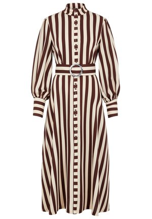Shirt dress - rum raisin