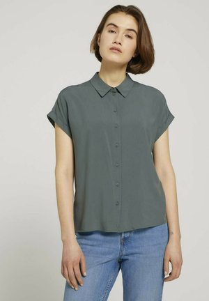 Button-down blouse - dusty pine green