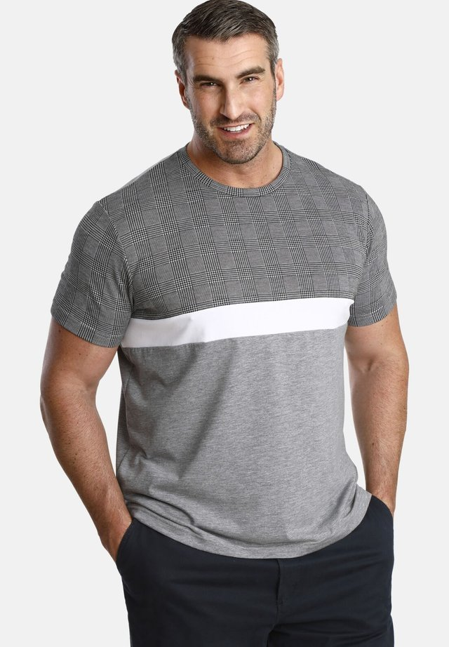 GORDON - Print T-shirt - grey