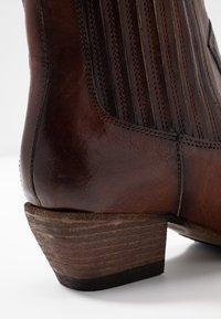 Billi Bi - Cowboy/biker ankle boot - old iron cognac - 2