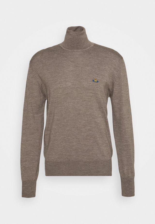 CLASSIC HIGH NECK - Jumper - taupe