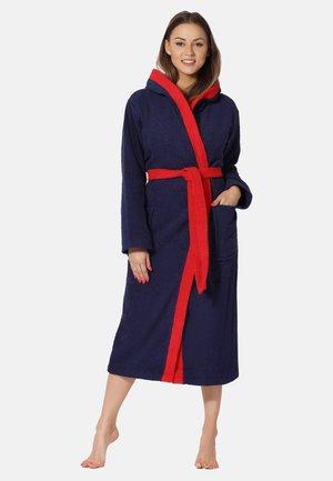 Dressing gown - darkblue/red