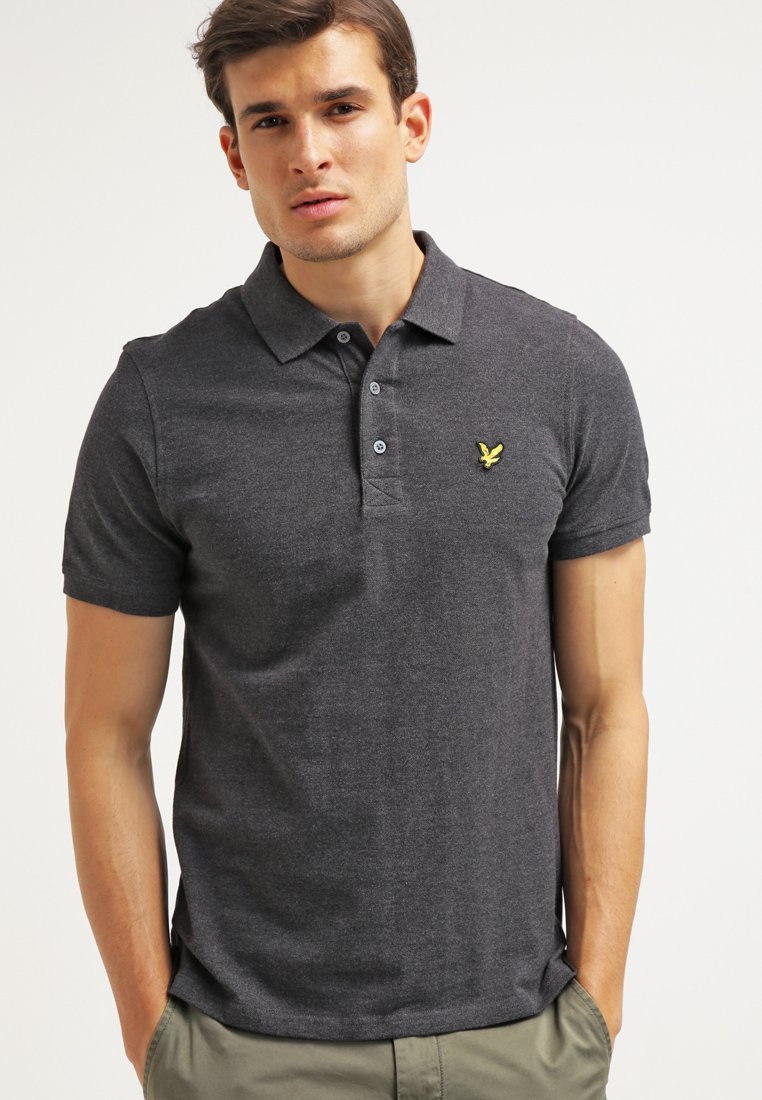 Lyle & Scott - Piké - charcoal marl