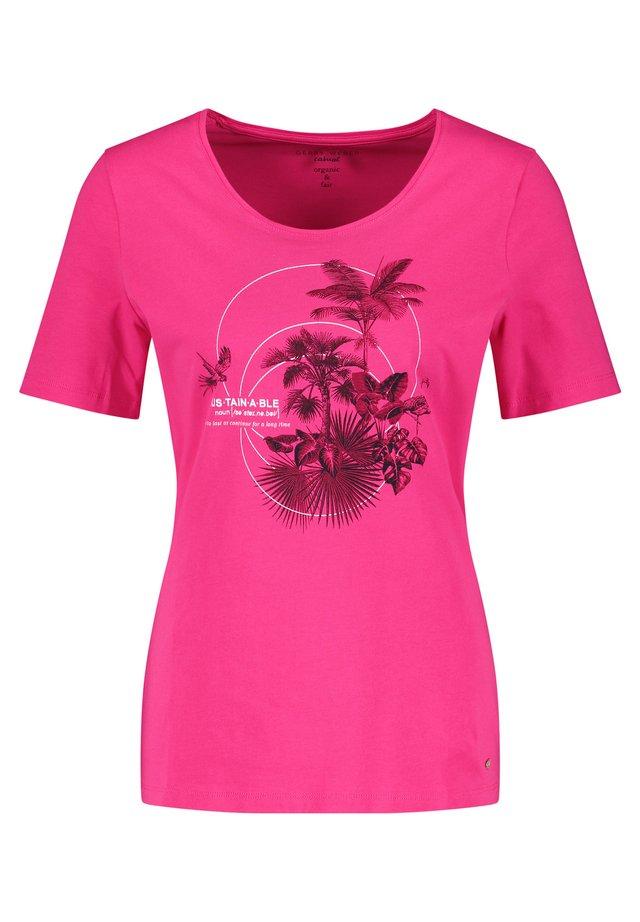 MIT FRONTPRINT - T-shirt print - lila/pink/blau druck