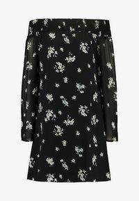 NA-KD - COWGIRL FLORAL PRINTED OFF SHOULDER DRESS - Day dress - black/white - 4