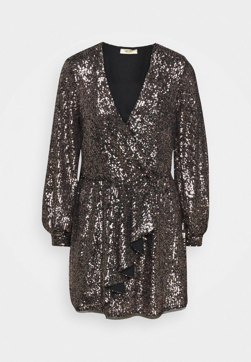 LIU JO - ABITO - Cocktail dress / Party dress - gold brown/gun metal
