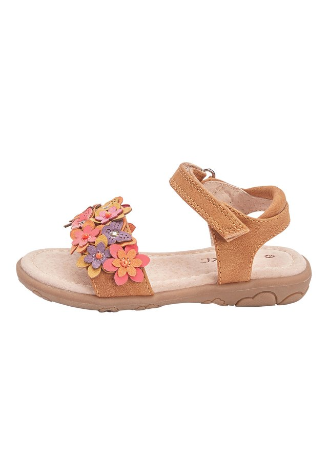 PINK 3D FLOWER SANDALS (YOUNGER) - Walking sandals - brown