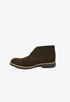 HAND-MADE GENUINE COMFORT - Lace-up ankle boots - coffee brown suede