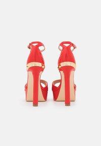 Guess - ALDEN - Platform sandals - red - 3