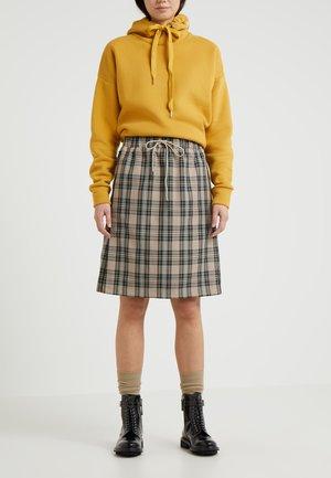 KNEE SKIRT - A-line skirt - sand tartan